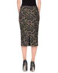 Michael Kors - Black 3/4 Length Skirt - Lyst