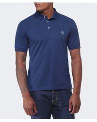 Vivienne Westwood | Blue Orb Polo Shirt for Men | Lyst