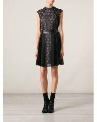 Pinko - Black Lace Dress - Lyst