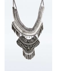 Urban Outfitters - Metallic Taza Stone And Bead Necklace - Lyst