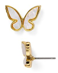 kate spade new york | Natural All A Flutter Stud Earrings | Lyst
