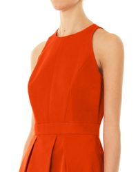 McQ - Red Fold Skirted Dress - Lyst