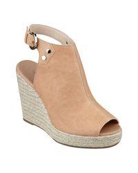 Nine West - Natural Followme Platform Wedge Sandals - Lyst