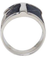 Pamela Love - Metallic Silver Cross Ring - Lyst