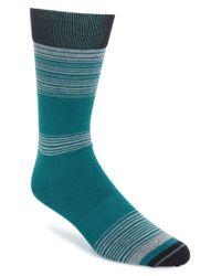 Hook + Albert | Green Stripe Socks for Men | Lyst