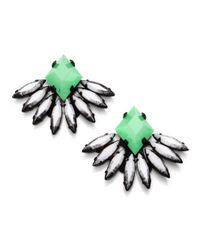 DANNIJO - Green Jovana Drop Earrings - Lyst