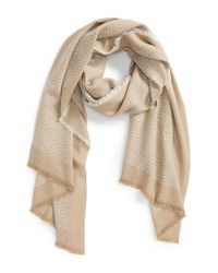 Halogen | Brown Diamond Pattern Oblong Scarf | Lyst