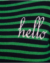 Chinti & Parker - Green Striped Cashmere Hello Jumper - Lyst