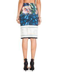 Clover Canyon - Blue James Joyce Neoprene Skirt - Lyst
