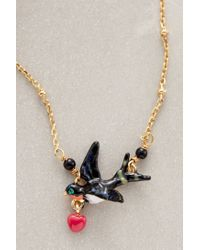Les Nereides | Black Lovebirds Necklace | Lyst