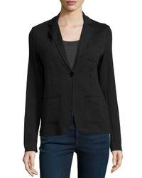 Neiman Marcus | Black One-Button Cotton and Cashmere Blazer  | Lyst