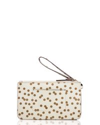 kate spade new york - Natural Cedar Street Confetti Dot Slim Bee - Lyst