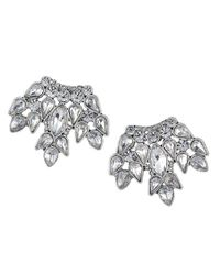 Sam Edelman | Metallic Crystal Fan Earrings | Lyst