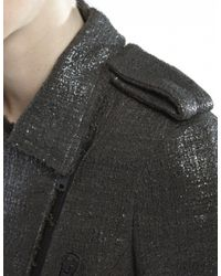 MSGM - Gray Gloss Tweed Jacket - Lyst