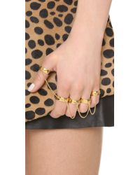Eddie Borgo - Metallic Five Finger Ring - Lyst