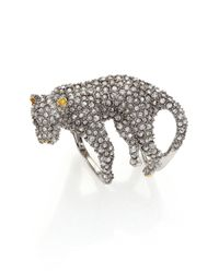 Alexis Bittar | Metallic Elements Moonlight Crystal Lounging Panther Cocktail Ring | Lyst
