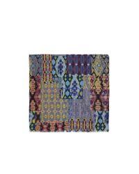 Franco Ferrari - Multicolor Kaleidoscope Ikat Print Wool-silk Scarf - Lyst