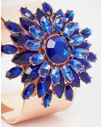 Ted Baker | Blue Statement Jewel Flower Cuff | Lyst