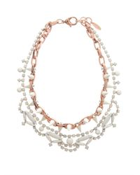 Joomi Lim - Pink Crystal and Spike Necklace - Lyst