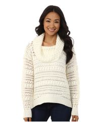 DKNY | Natural Yarn Mix Crochet Cowl Pullover | Lyst
