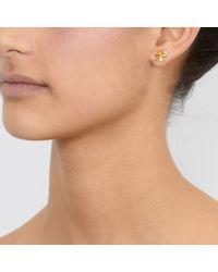 Alex Monroe - Metallic Lucky Clover Earrings - Lyst