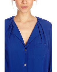 Oasis - Blue Tuck Shoulder Shirt - Lyst