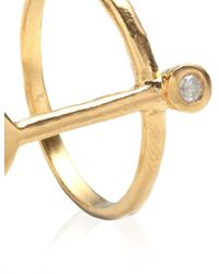 Bjorg | Metallic Gold The Spectral Haze Ring | Lyst