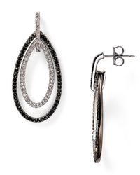 Nadri | Black Novelette Pavé Drop Earrings | Lyst
