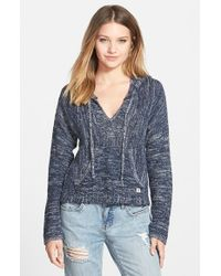 Billabong | Blue 'Baja' Poncho Sweater | Lyst