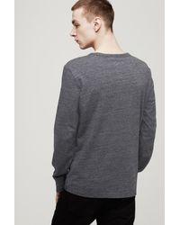 Rag & Bone - Black Tweed Long Sleeve Tee for Men - Lyst