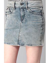 G-Star RAW - Gray Mini Skirt - Lyst