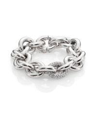 Eddie Borgo | Metallic Single Pavé Link Bracelet | Lyst