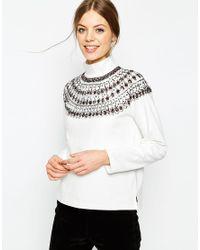 ASOS | Gray Sweatshirt With High Neck | Lyst