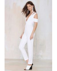 Nasty Gal - White Style Stalker Island Fever Twill Jumpsuit - Lyst