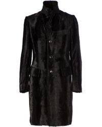 Junya Watanabe - Black Faux Fur Fitted Coat - Lyst