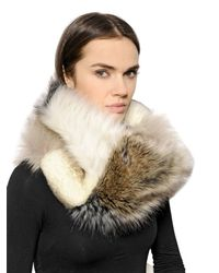 Urbancode - White Patchwork Faux Fur Stole - Lyst