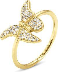 Georg Jensen | Metallic Askill 18ct Yellow-gold And Pavé Diamond Ring | Lyst