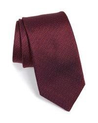 Michael Kors - Red 'wicket Solid' Silk Tie for Men - Lyst