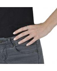 V Jewellery | Metallic Parallel Ring | Lyst