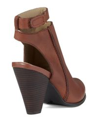 Kenneth Cole Reaction | Brown Peg Rest Booties | Lyst