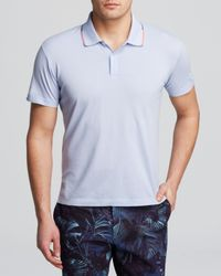 Paul Smith - Blue Cotton Polo - Slim Fit for Men - Lyst