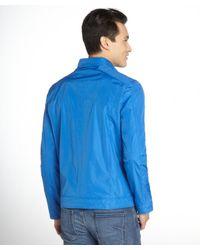 Marc New York - Ocean Blue 'reece' Snap Tab Motocross Jacket for Men - Lyst