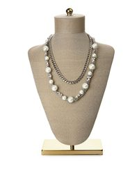 Givenchy - Metallic Silver-Tone Double Chain Necklace - Lyst