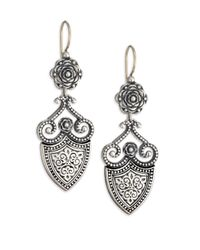 Konstantino | Metallic Classic Sterling Silver Shield Drop Earrings | Lyst