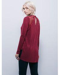 Free People - Purple New Romantics Ruby Jane Tee - Lyst