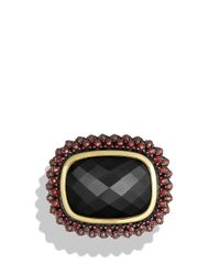 David Yurman | Red Osetra Ring With Black Onyx, Garnet And 18k Gold | Lyst