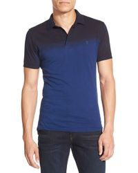 French Connection | Blue 'wembley' Slim Fit Dip Dye Polo for Men | Lyst