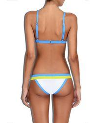 MILLY - Blue Cabana Amalfi Colorblock Bikini Bottom - Lyst