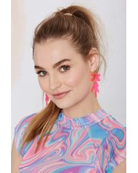 Nasty Gal | Pink I Still Love You Nyc Drip Splat Earrings | Lyst