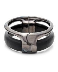 Alexis Bittar - Black Ruthenium Stacked Hinged Bracelet - Lyst